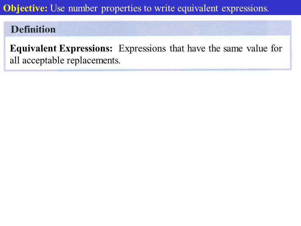Def. Equivalent Expressions