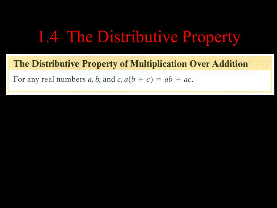1.4 The Distributive Property