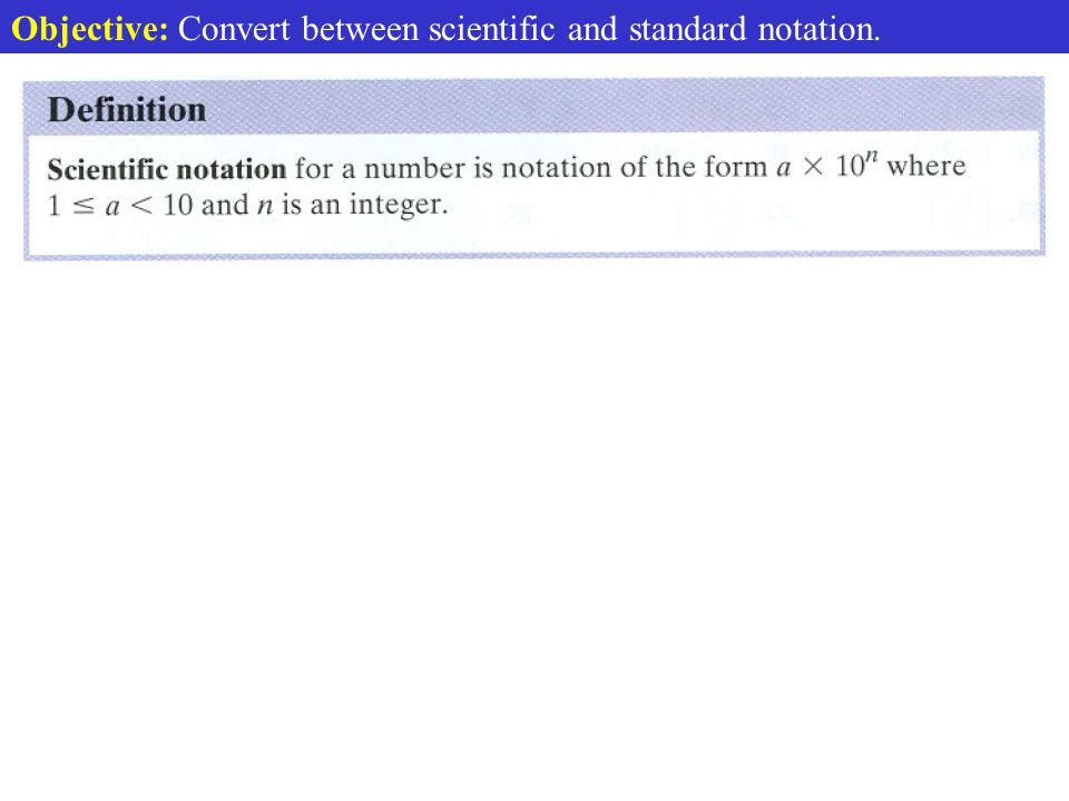 Def. Scientific Notation