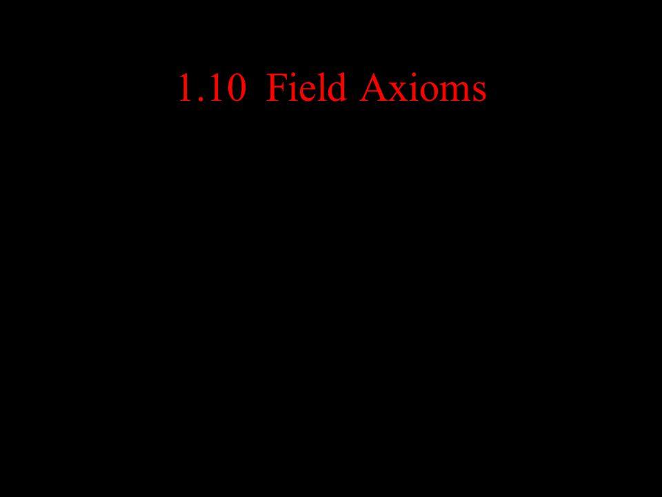 1.10 Field Axioms