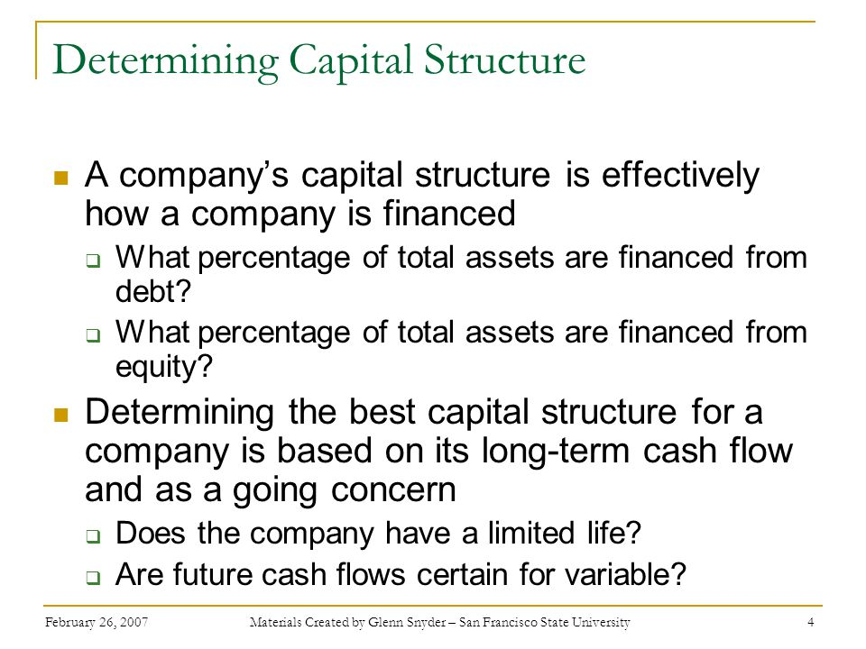 Determining Capital Structure