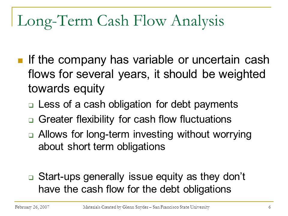 Long-Term Cash Flow Analysis