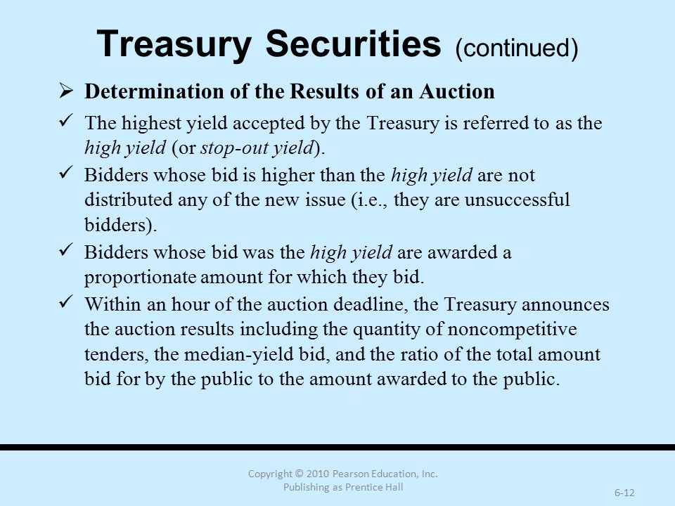 Treasury Securities (continued)