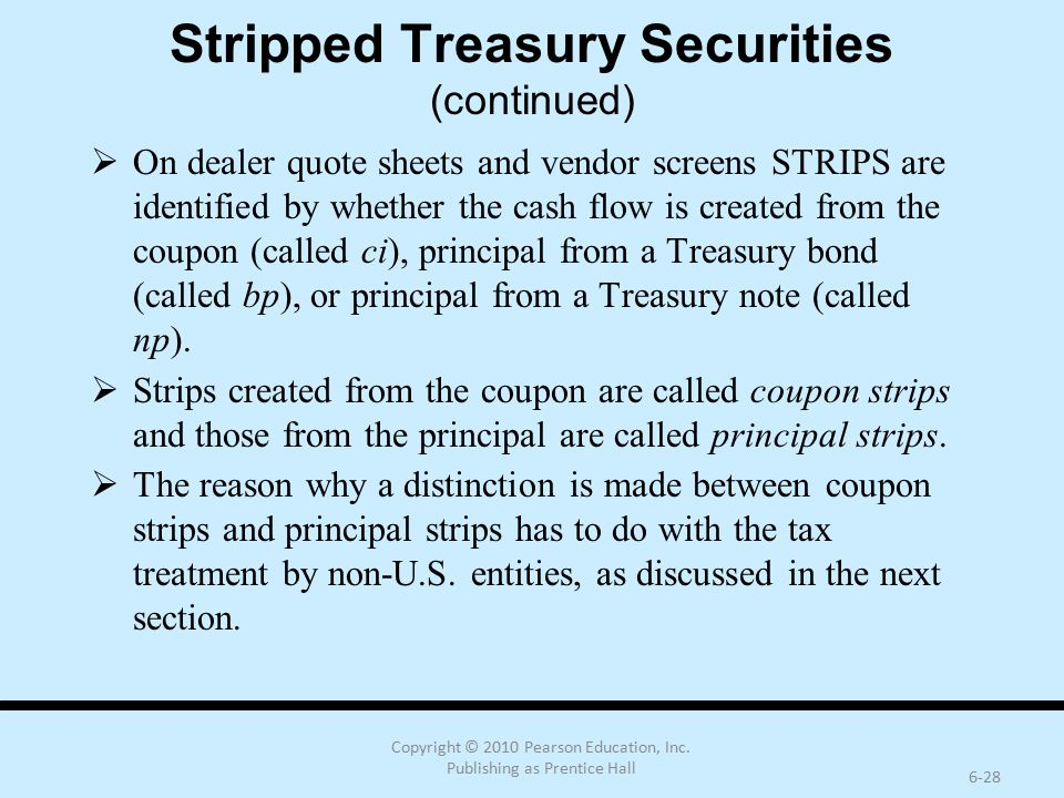 Stripped Treasury Securities (continued)