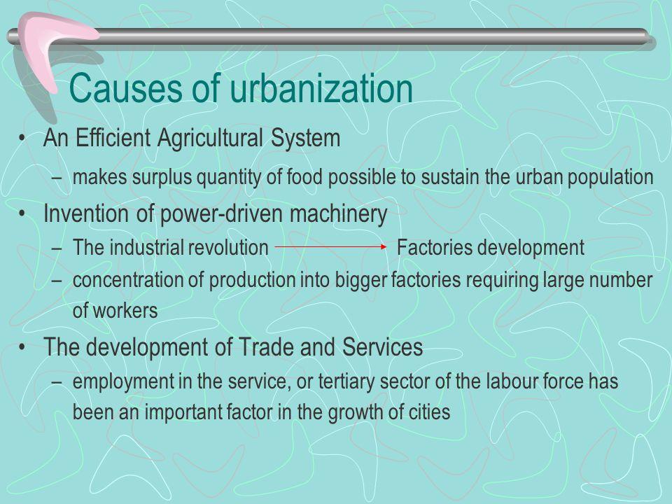 Causes of urbanization
