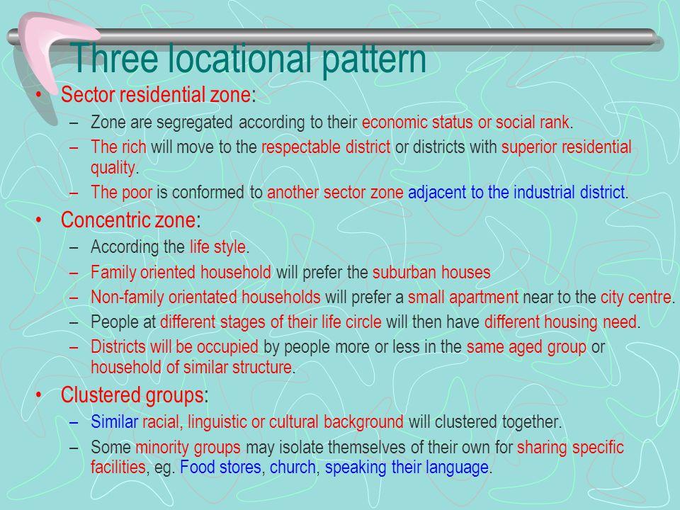 Three locational pattern