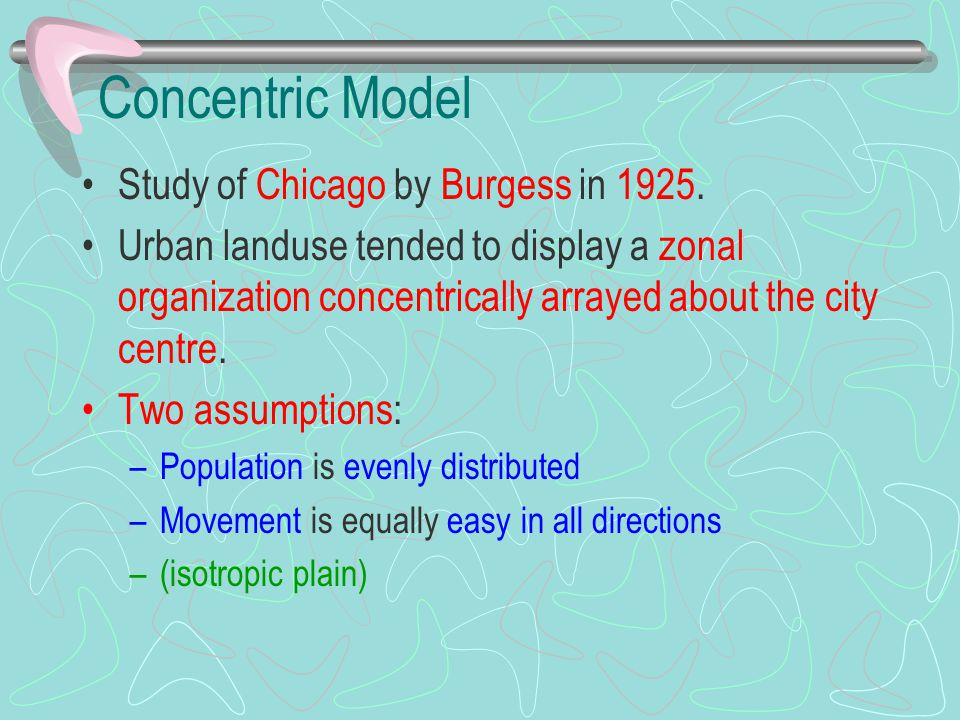 Concentric Model Study of Chicago by Burgess in 1925.