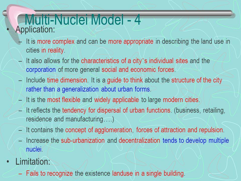 Multi-Nuclei Model - 4 Application: Limitation: