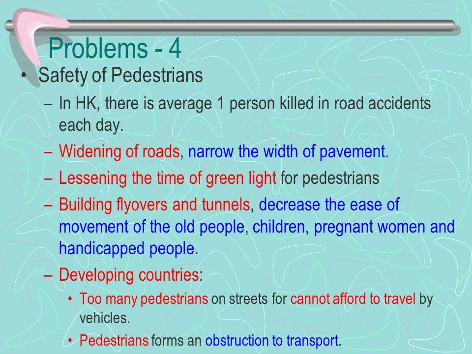 Problems - 4 Safety of Pedestrians