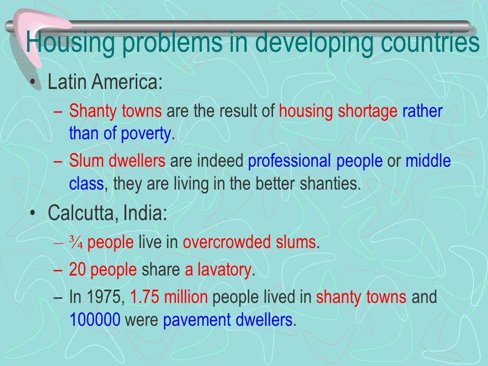 Housing problems in developing countries