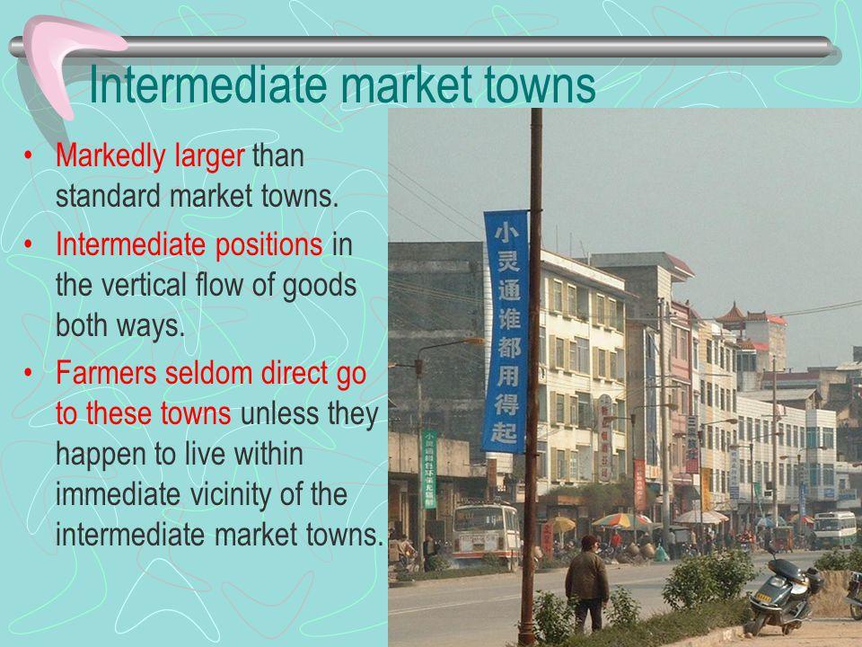 Intermediate market towns
