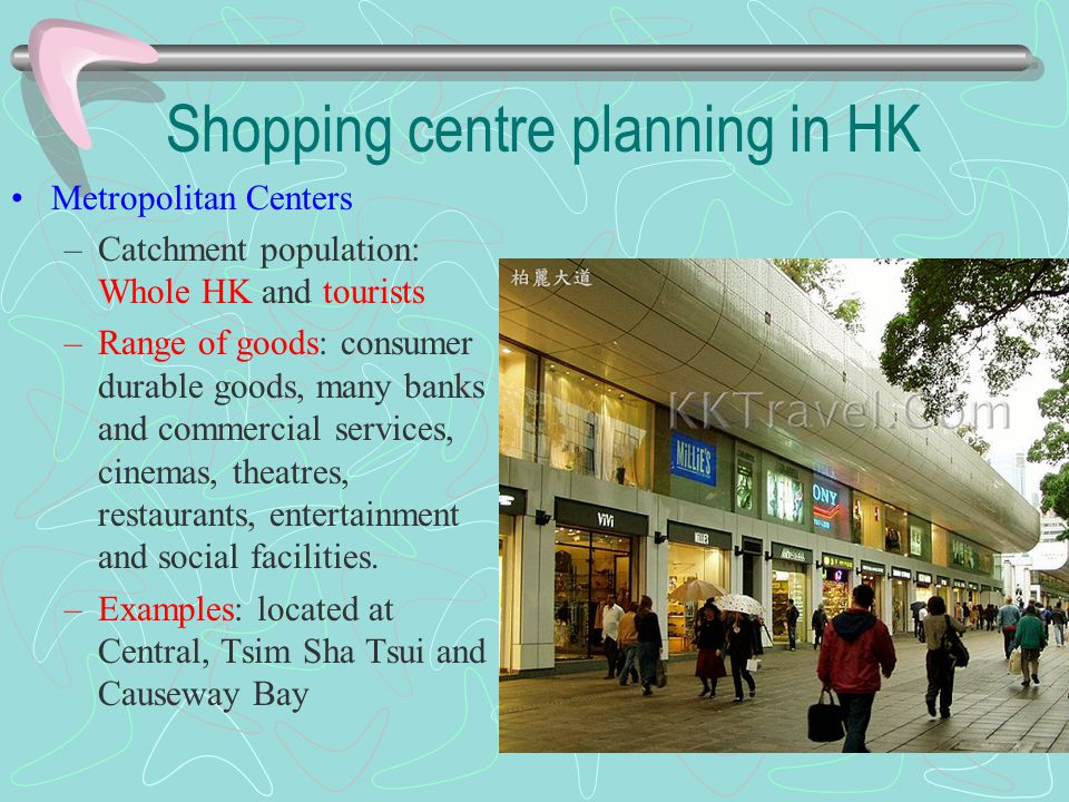 Shopping centre planning in HK