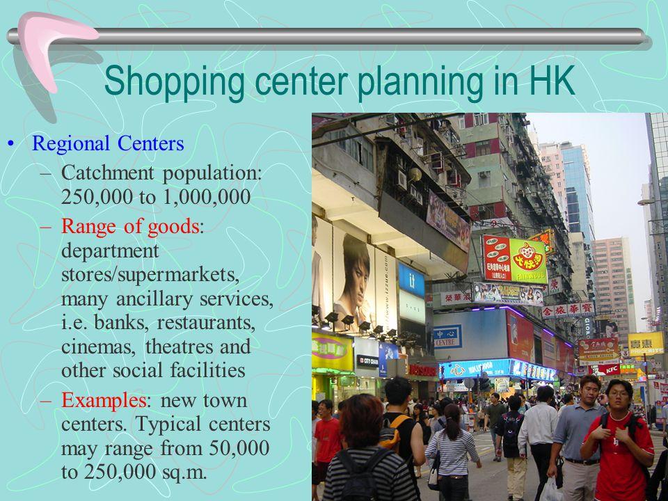 Shopping center planning in HK