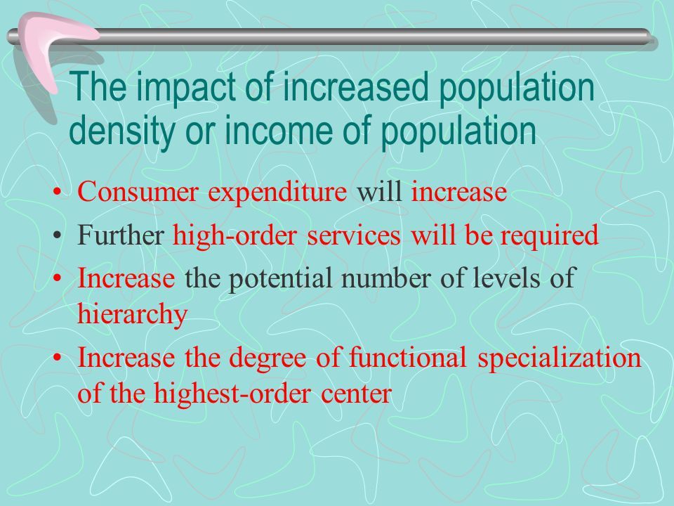 The impact of increased population density or income of population