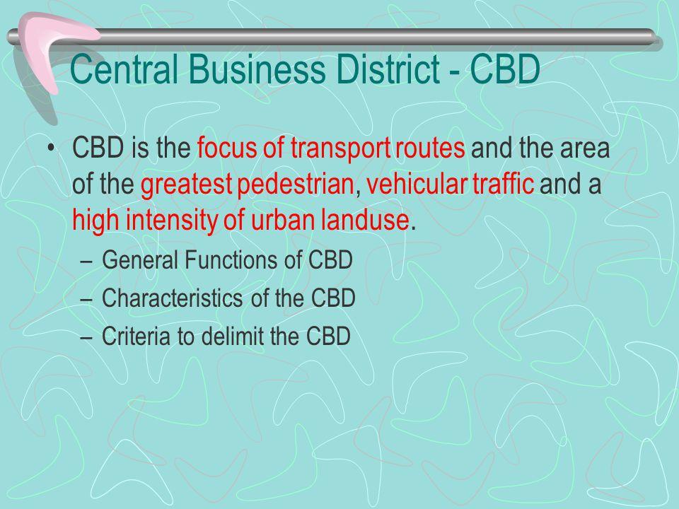 Central Business District - CBD