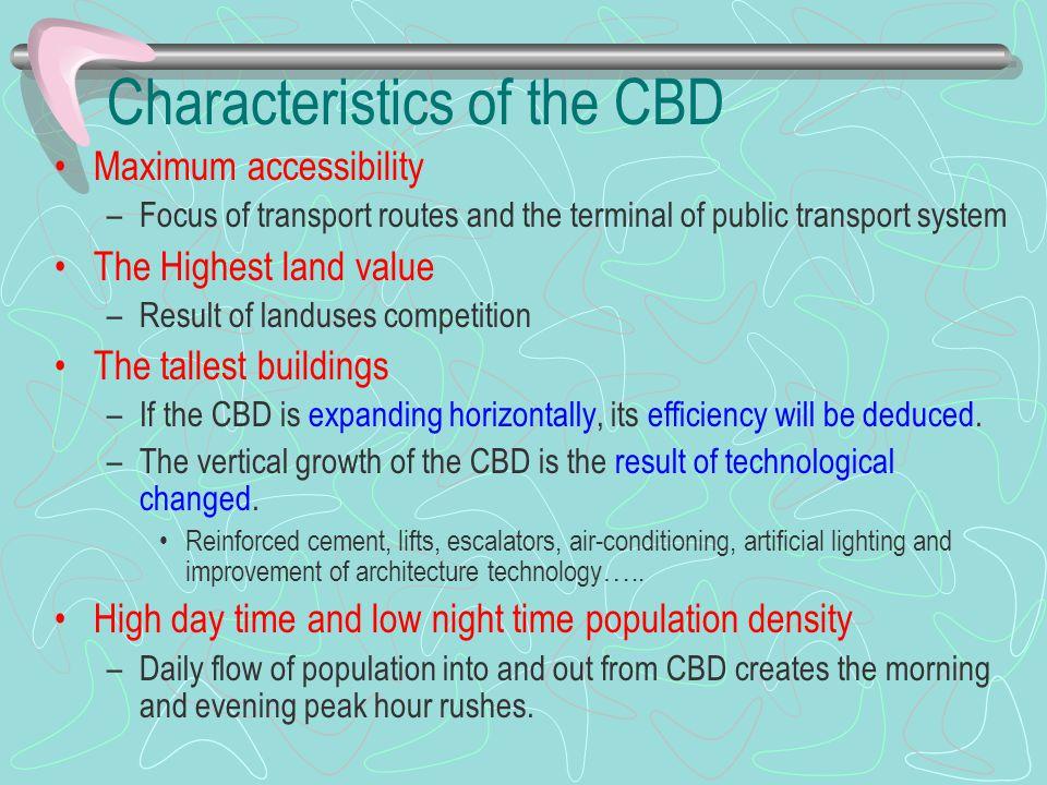 Characteristics of the CBD