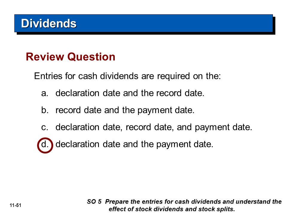 Dividends Review Question