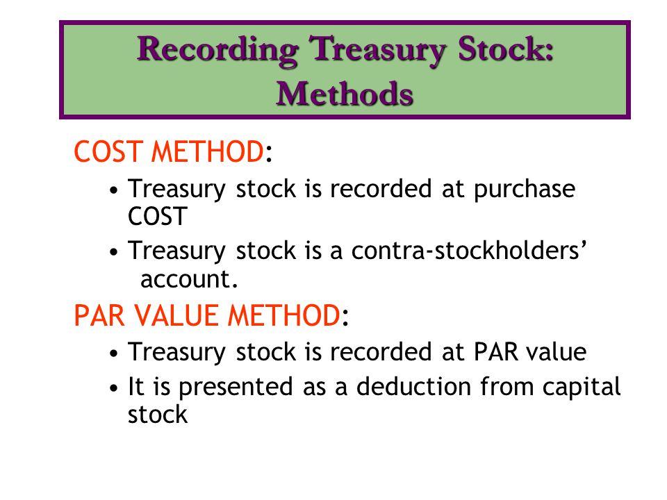 Recording Treasury Stock: Methods