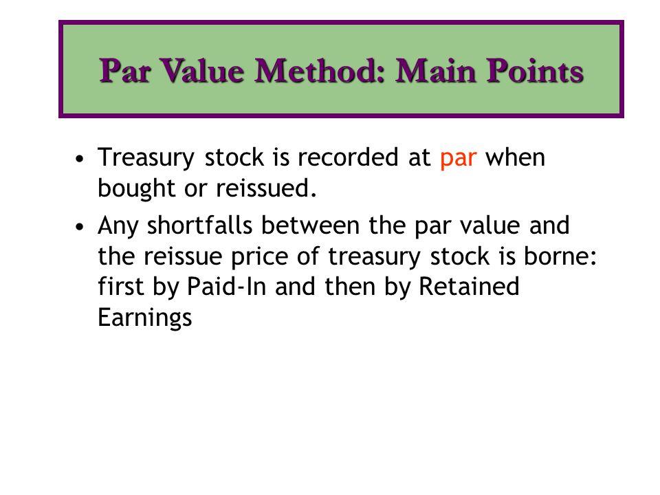 Par Value Method: Main Points