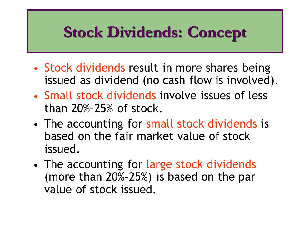 Stock Dividends: Concept