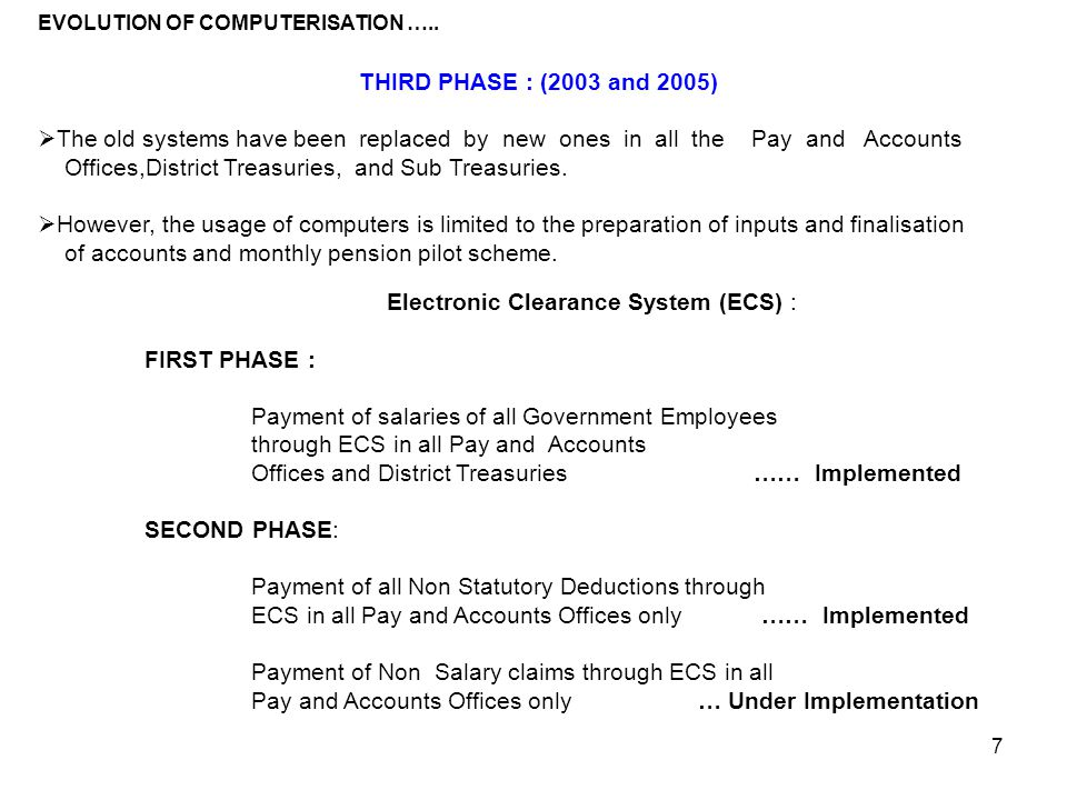 Electronic Clearance System (ECS) :
