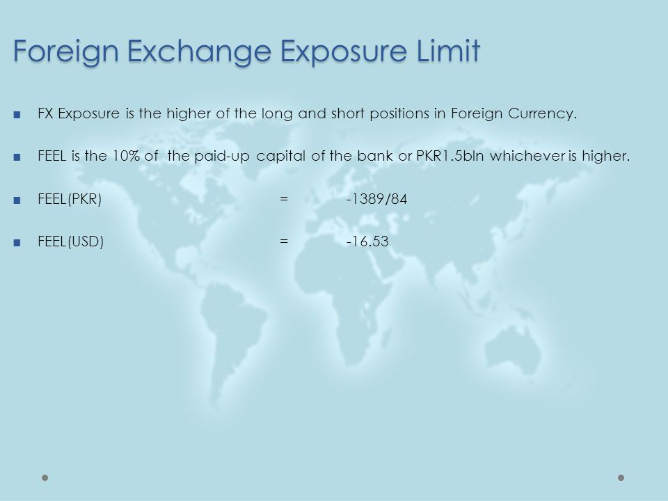 Foreign Exchange Exposure Limit
