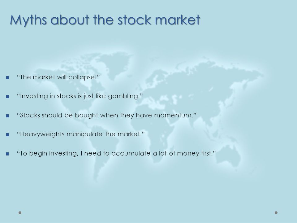 Myths about the stock market