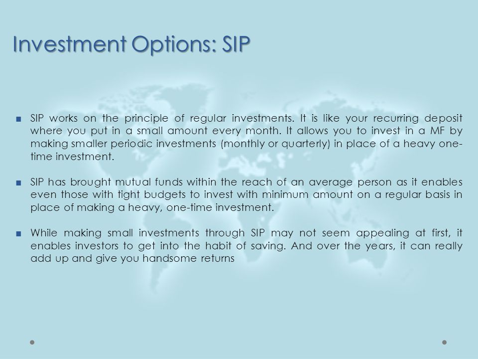 Investment Options: SIP