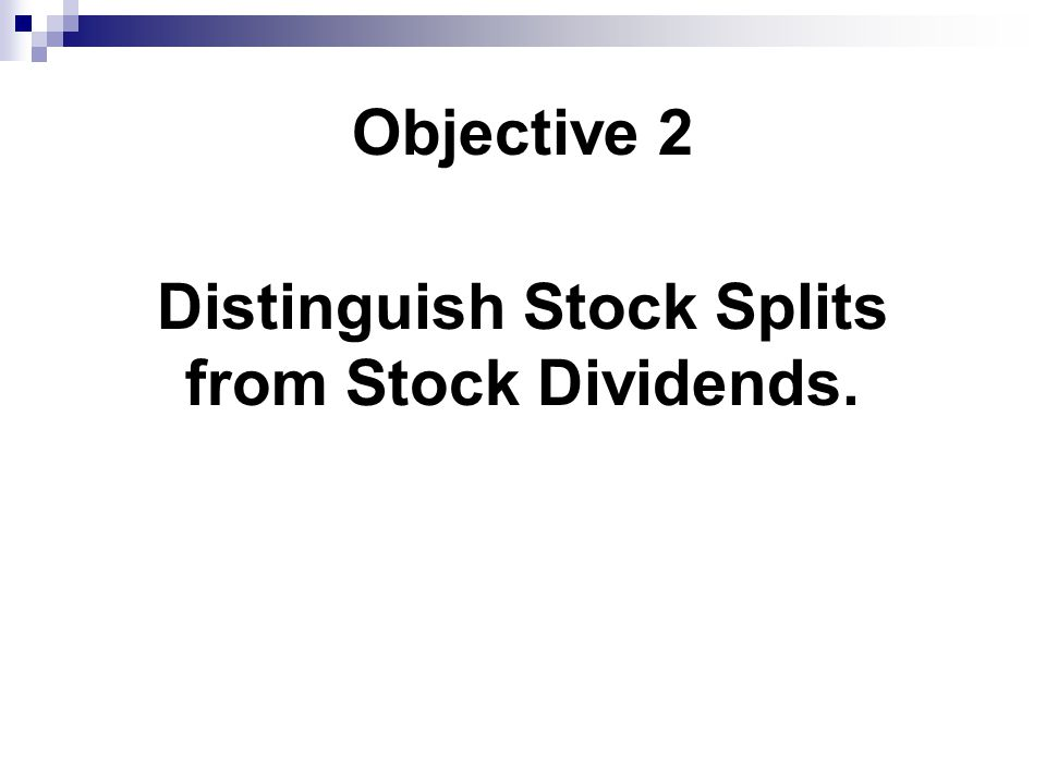 Distinguish Stock Splits