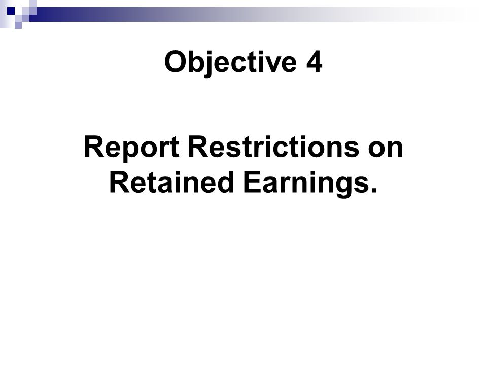 Report Restrictions on
