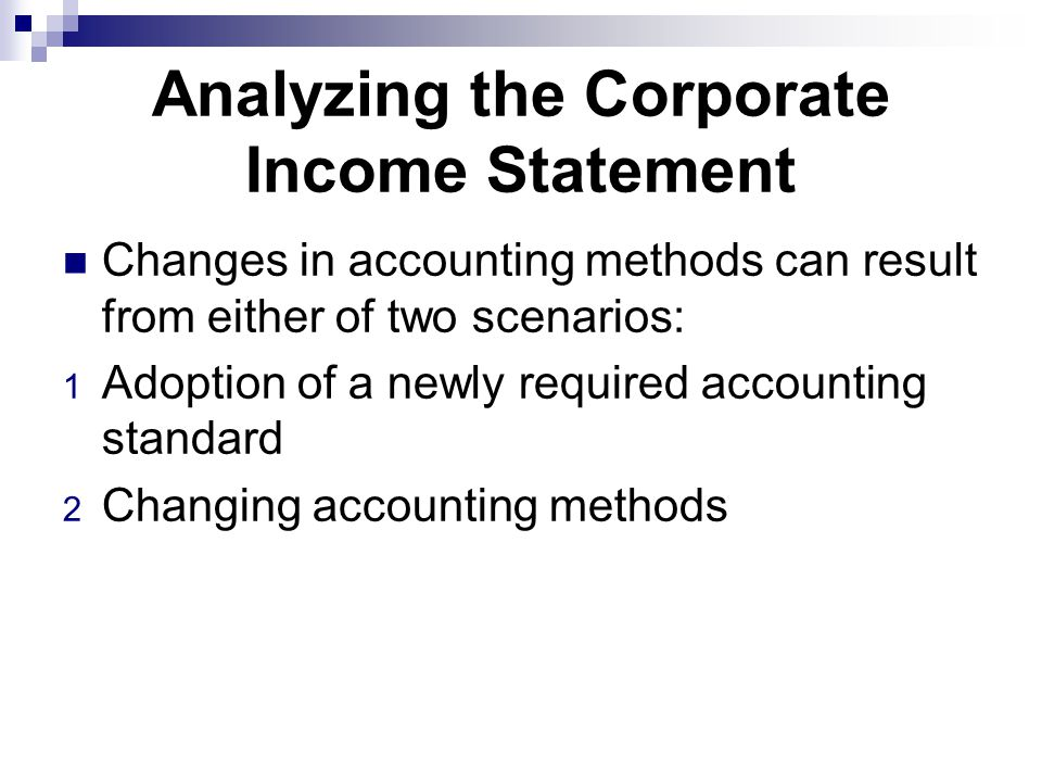 Analyzing the Corporate Income Statement