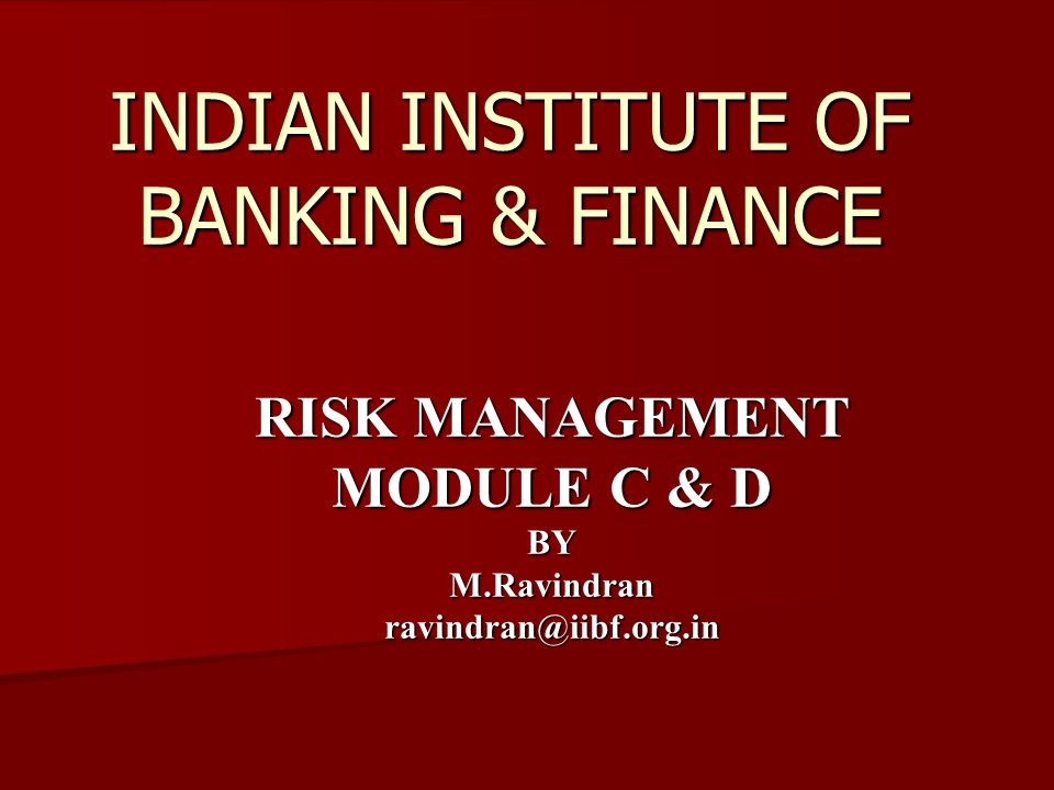 INDIAN INSTITUTE OF BANKING & FINANCE