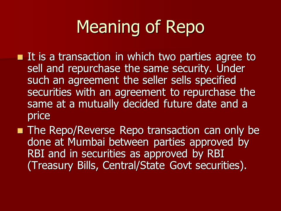 Meaning of Repo
