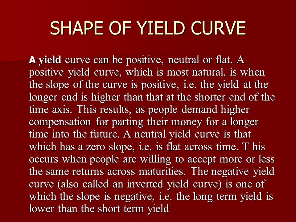 SHAPE OF YIELD CURVE
