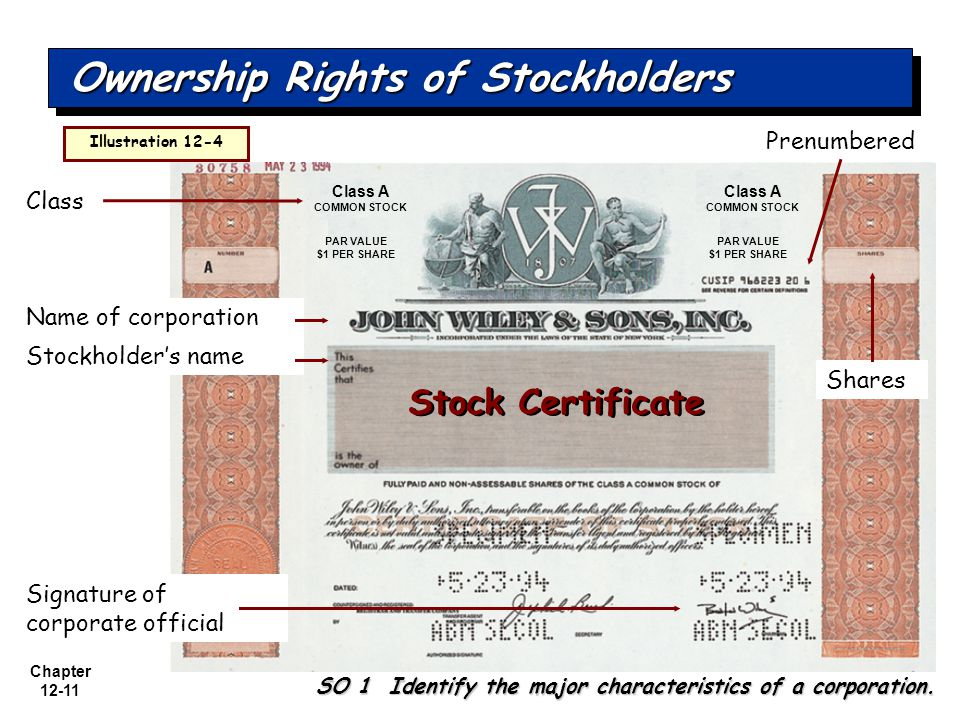 Ownership Rights of Stockholders