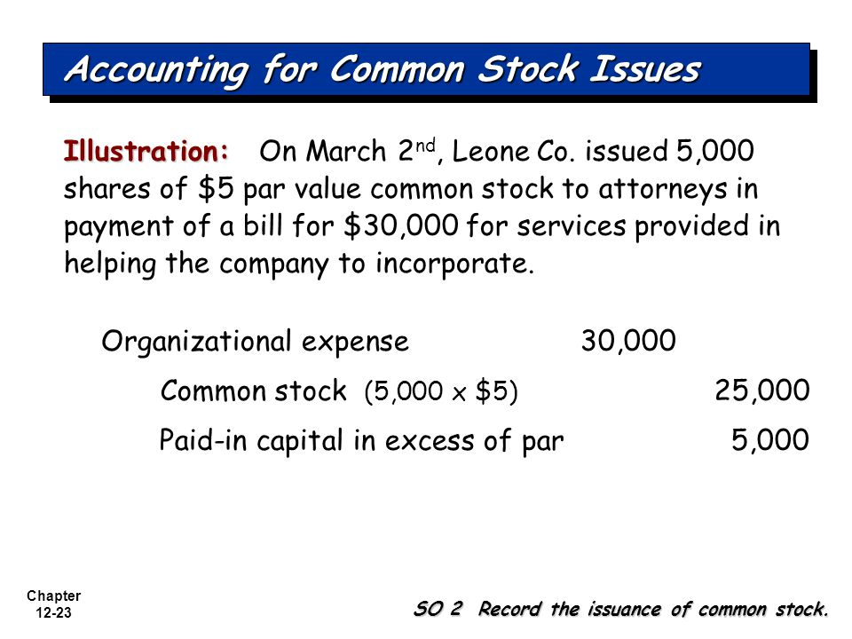 Accounting for Common Stock Issues