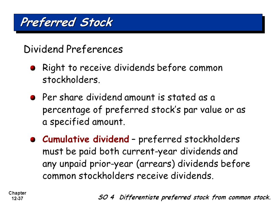 Preferred Stock Dividend Preferences