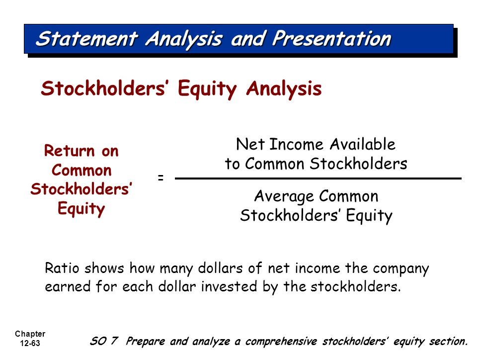 Return on Common Stockholders' Equity