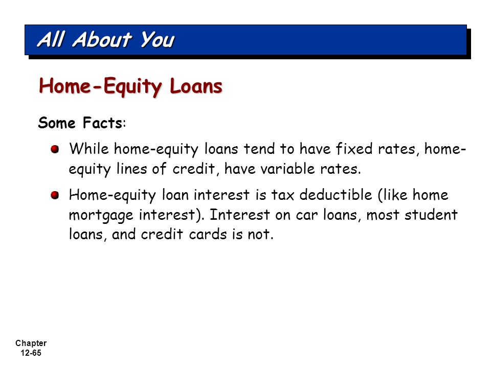 All About You Home-Equity Loans Some Facts:
