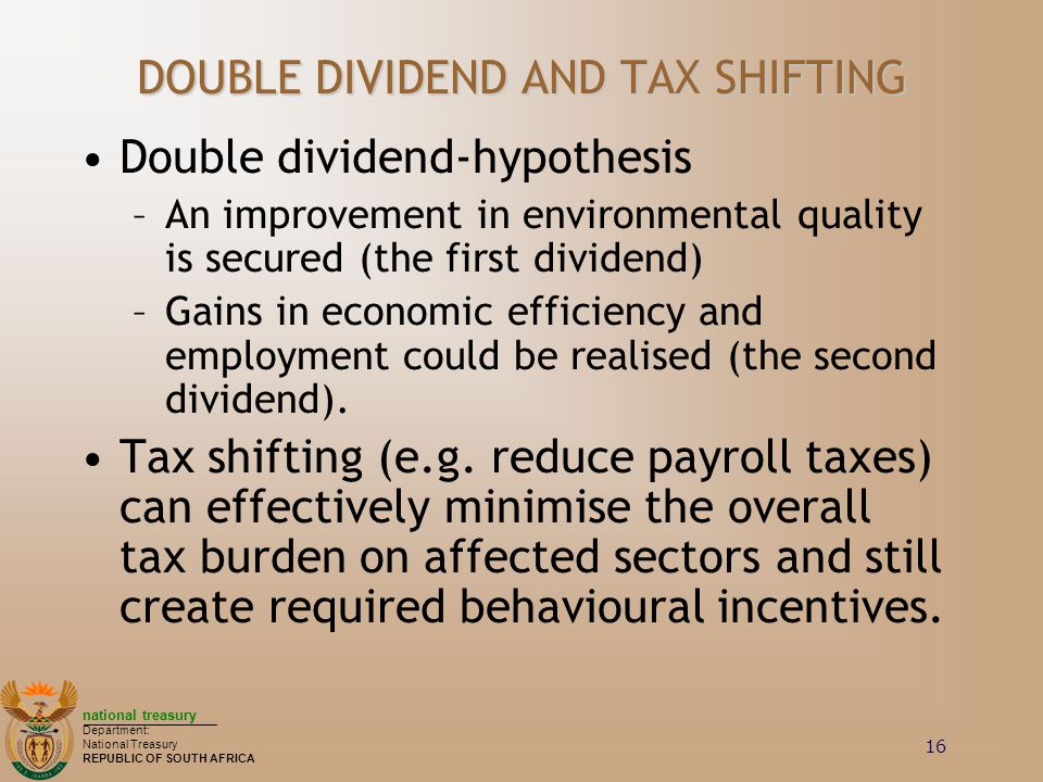 DOUBLE DIVIDEND AND TAX SHIFTING