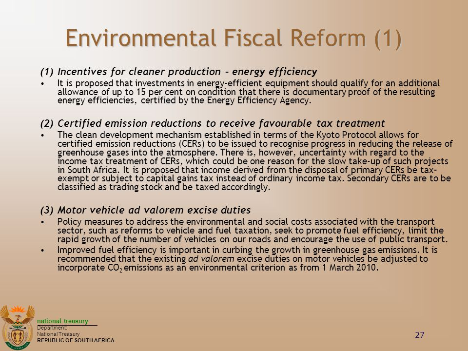 Environmental Fiscal Reform (1)