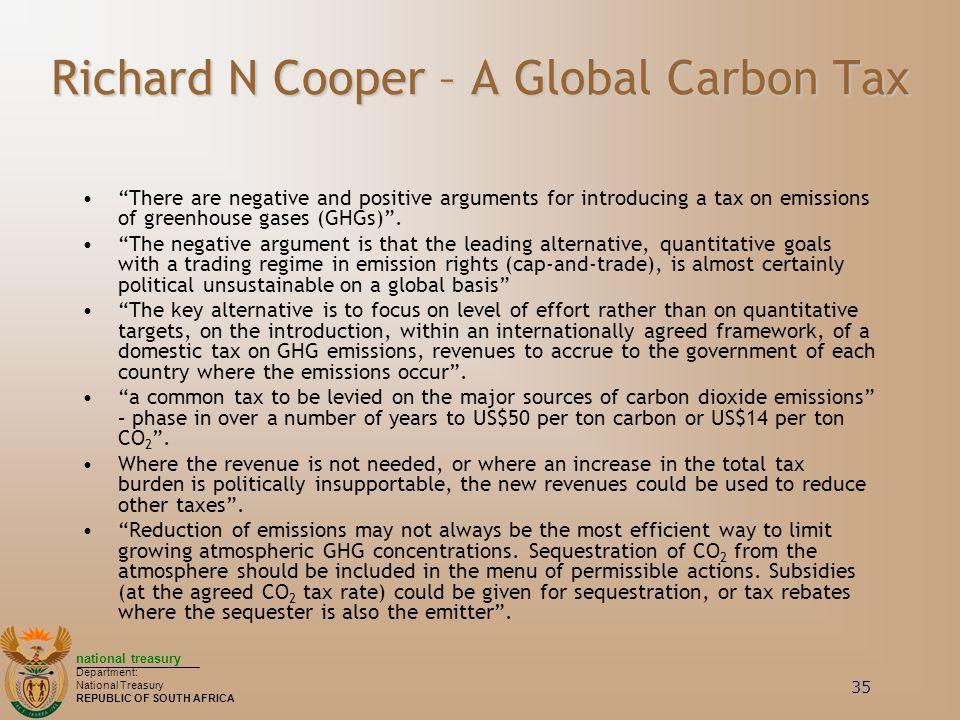 Richard N Cooper – A Global Carbon Tax