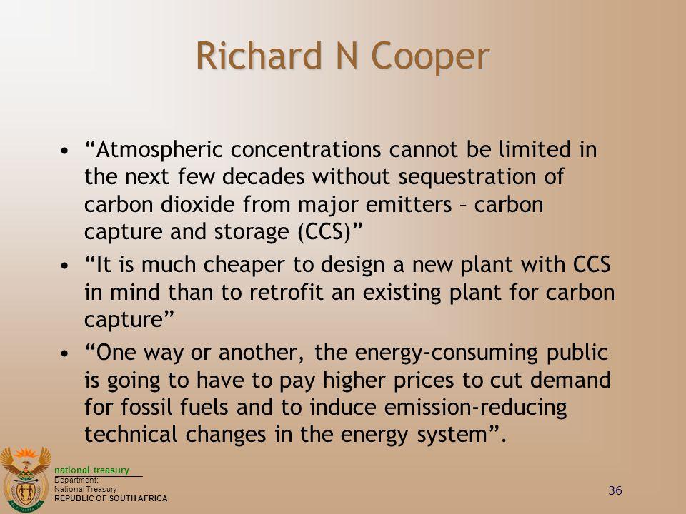 Richard N Cooper