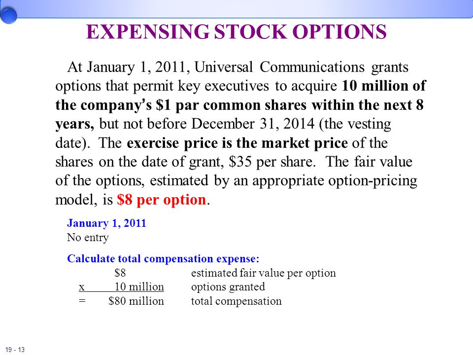Stock options granted below fair market value