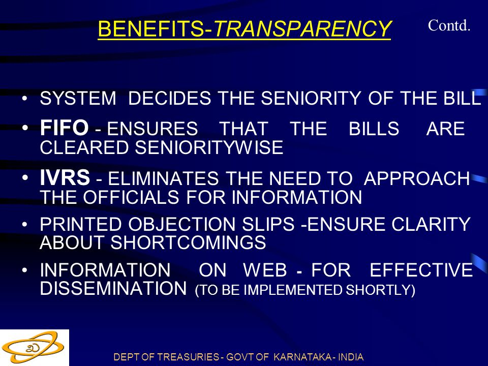 BENEFITS-TRANSPARENCY