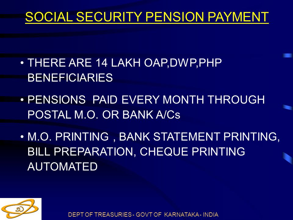 SOCIAL SECURITY PENSION PAYMENT