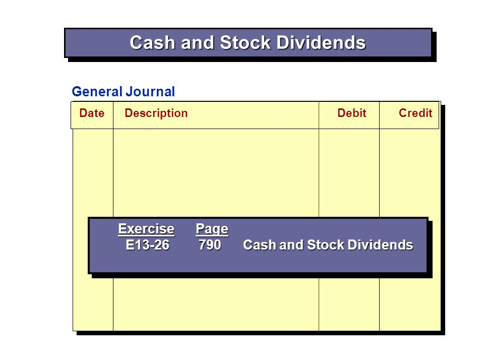 Cash and Stock Dividends