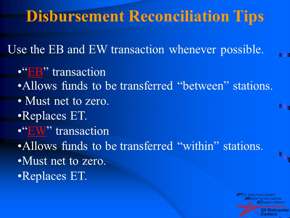 Disbursement Reconciliation Tips