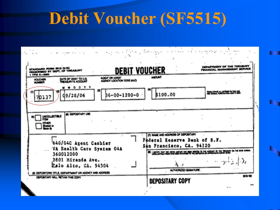 Debit Voucher (SF5515) 4/14/2017.