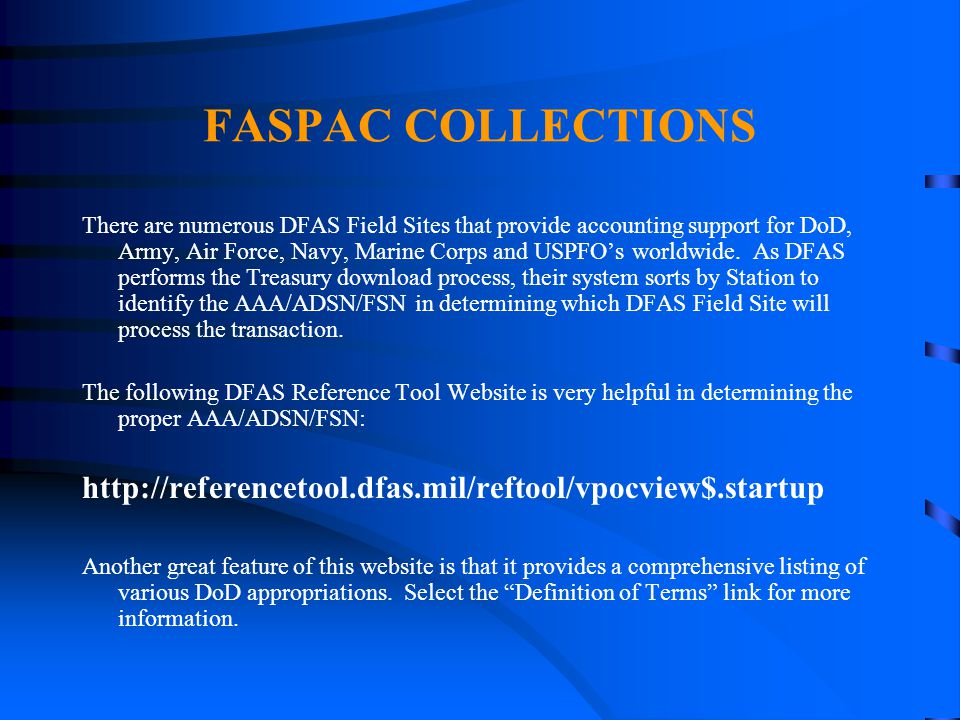 4/14/2017 FASPAC COLLECTIONS.
